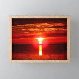 Fireball and the sea Framed Mini Art Print