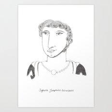 Signora Josephine Art Print