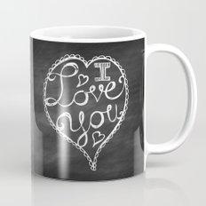 I Love You Chalkboard Mug