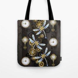 Steampunk Dragonflies Tote Bag