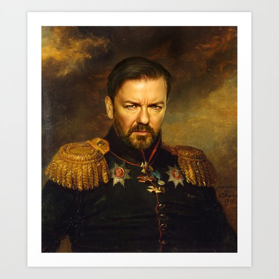 Ricky Gervais - replaceface Art Print