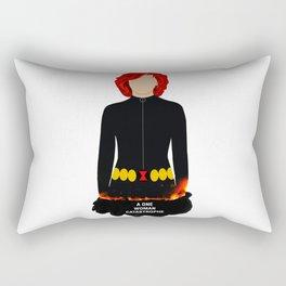 A One Woman Castrophe Rectangular Pillow