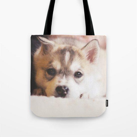 "siberian husky puppy - ""nova"" Tote Bag"