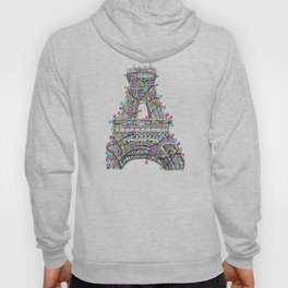 Paris Eiffel Tower Holiday Lights Multi Hoody