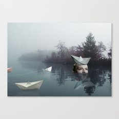 paperboats Canvas Print