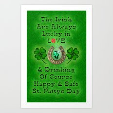 ST PATTYS DAY - 002 Art Print