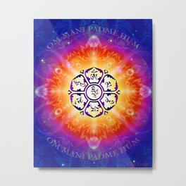 """Om Mani Padme Hum"" - Embodiment of Compassion Metal Print"