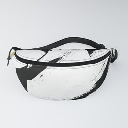 Brushstroke 6: a minimal, abstract, black and white piece Fanny Pack