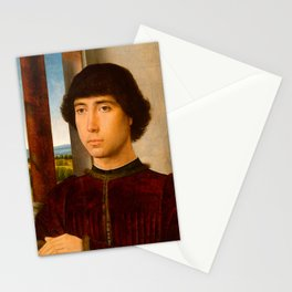 """Hans Memling """"Portrait of a Young Man"""" Stationery Cards"""