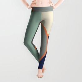 Colorful Geometric Cubism Design Leggings