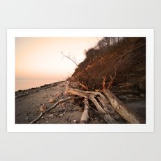 down by the seaside Art Print