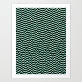 Triangle in Diamonds. Art Print