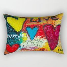 Believe Hope Live Rectangular Pillow