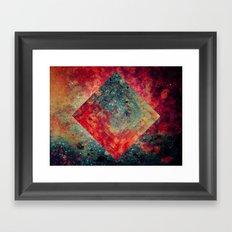 Random Square Framed Art Print