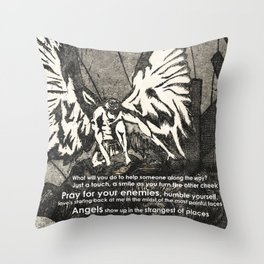 Looking for Angels Throw Pillow