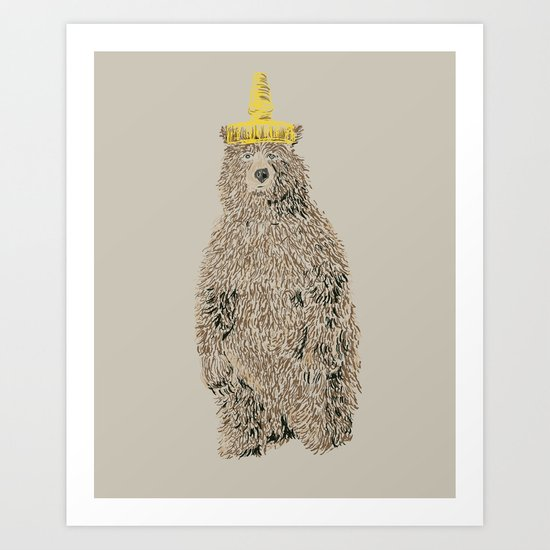 Honey Bear Art Print