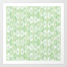 Harlequin Marble Mix Greenery Art Print