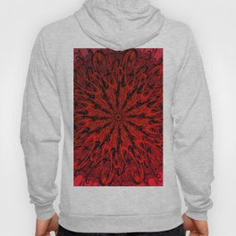 Blood Red & inked Hoody