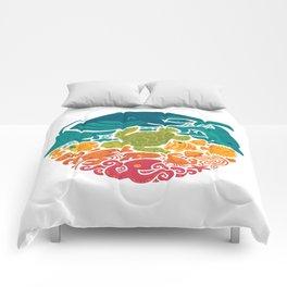 Aquatic Rainbow (white) Comforters