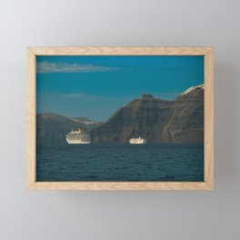 Santorini, Greece 5 Framed Mini Art Print
