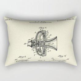 Telephone Transmitter-1898 Rectangular Pillow