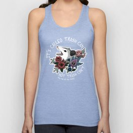 Possum with flowers - It's called trash can not trash can't Unisex Tanktop