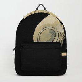 Elegant Sphynx Cat Sitting - Hairless Wrinkly Kitty -Bald Khakki Animal Illustration - Pet Portrait - Black Background Backpack