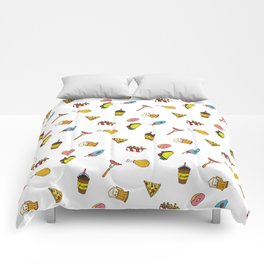 Calorie Counting Junk Food Comforters