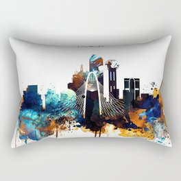 Dallas City Skyline Rectangular Pillow