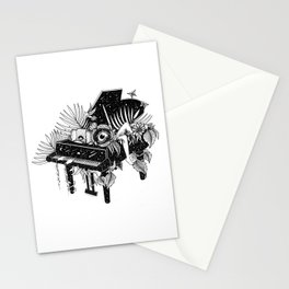 Piano, Melody of life Stationery Cards