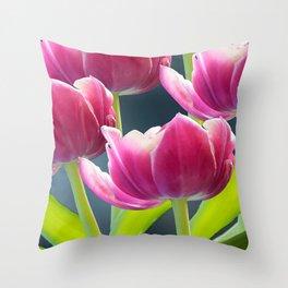 Tulip Bouquet Spring Atmosphere #decor #society6 #buyart Throw Pillow