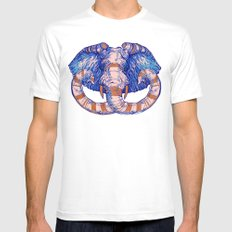 Elephant Mens Fitted Tee White MEDIUM