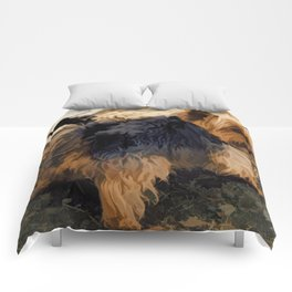 Cute Little Yorkie   - Yorkshire Terrier Dog Comforters