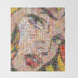 Roy's PinUps (h) - pop art Throw Blanket