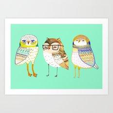 The Cutest owls. Art Print