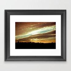 Dawn On The Side Framed Art Print