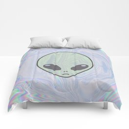 Alien Pastel Comforters