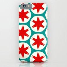 Retro Red Stars II Slim Case iPhone 6s