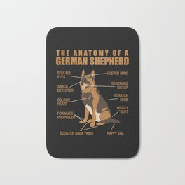 German Shepherd Anatomy Bath Mat
