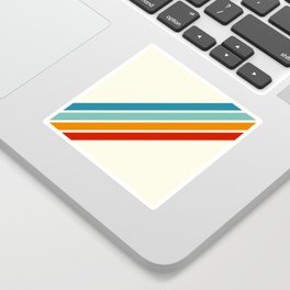 Alator - Classic 70s Retro Summer Stripes Sticker