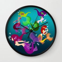 Festive Mermaids Wall Clock