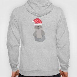 Santa Sloth Santa Hat Merry Christmas Gift Hoody