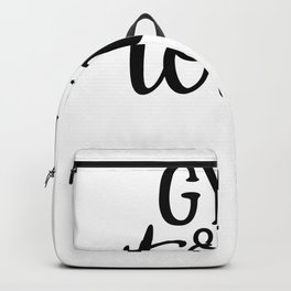 Gym Design Gym and Tonic Backpack