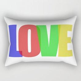 Love (Color) Rectangular Pillow