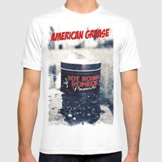 American grease Mens Fitted Tee White MEDIUM