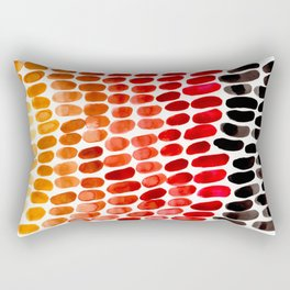 Red Orange Yellow Gradient Natural Patterns Colorful Watercolor Abstract Art Mid Century Modern Art Rectangular Pillow