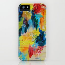 VANCOUVER RAIN - Stunning Rainbow Colorful Bold bright Rain Clouds Stormy Day Wow Abstract Painting iPhone Case