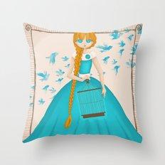 Flying Birds II Throw Pillow
