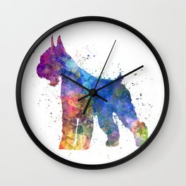 Giant Schnauzer 01in watercolor Wall Clock