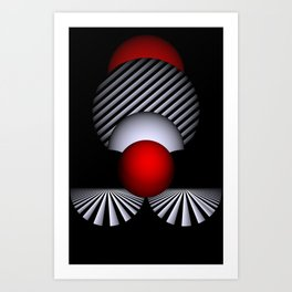 games with geometry -10- Art Print
